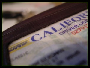 A California driver's license representing the legal services of the Law Offices of Jerod Gunsberg in Los Angeles, CA